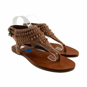 Vince Camuto 'Rihana' Leather Buckle Thong Sandal